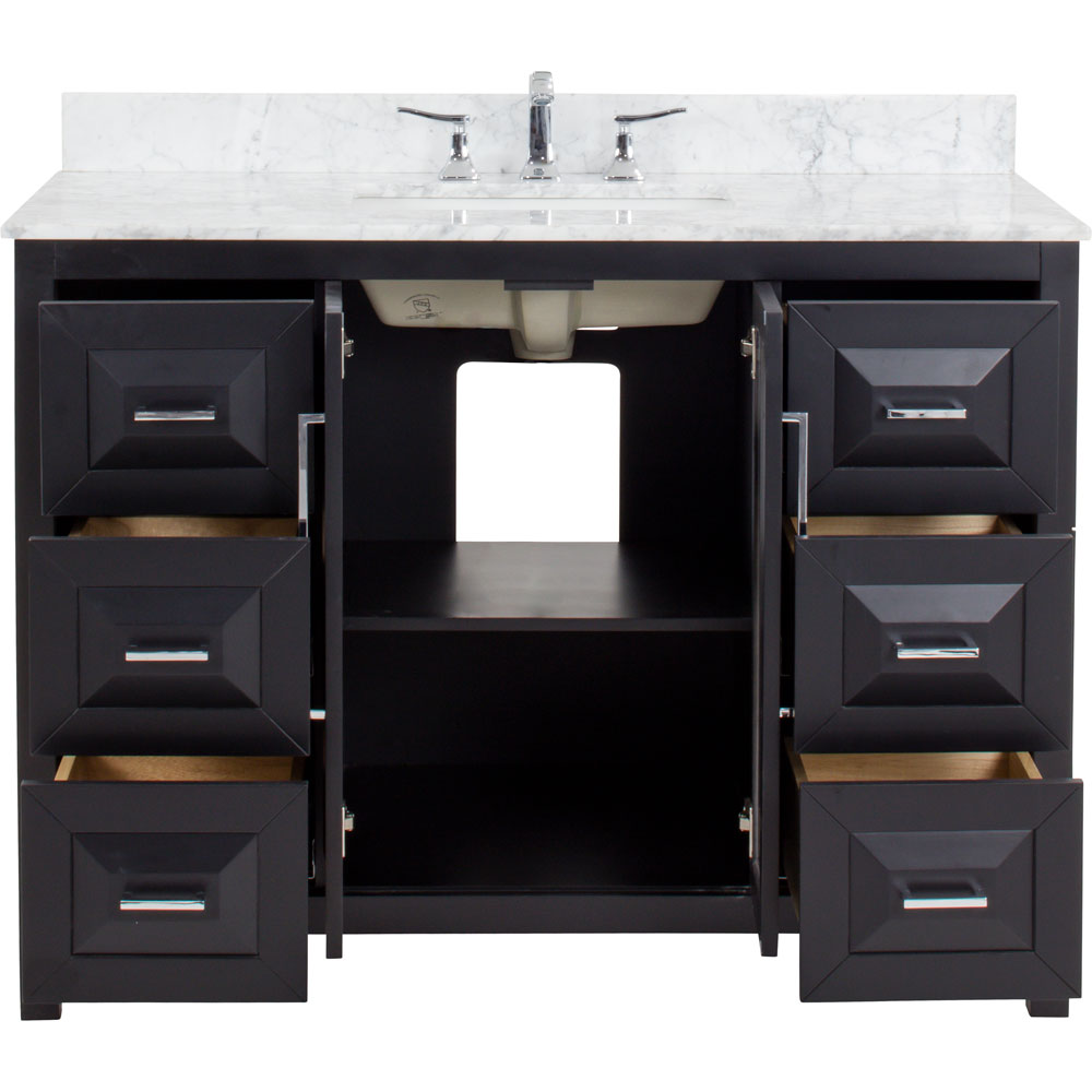 "48"" Cade Contempo vanity in Black"