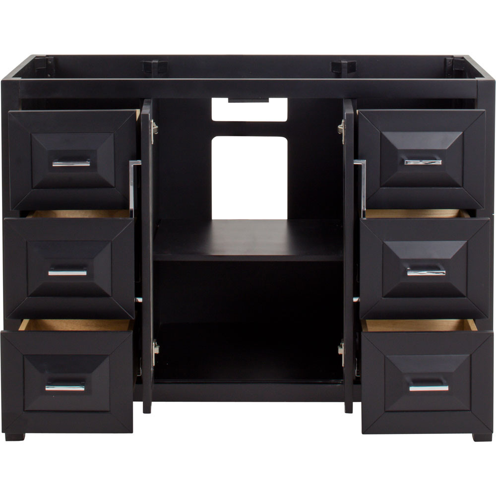 "48"" Cade Contempo vanity in Black without top"