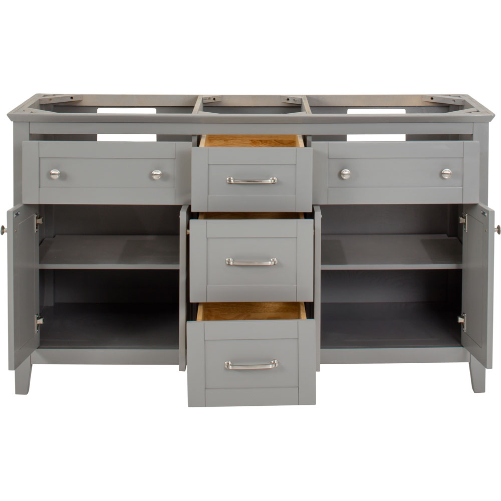 "60"" Chatham Shaker vanity in Grey without top"