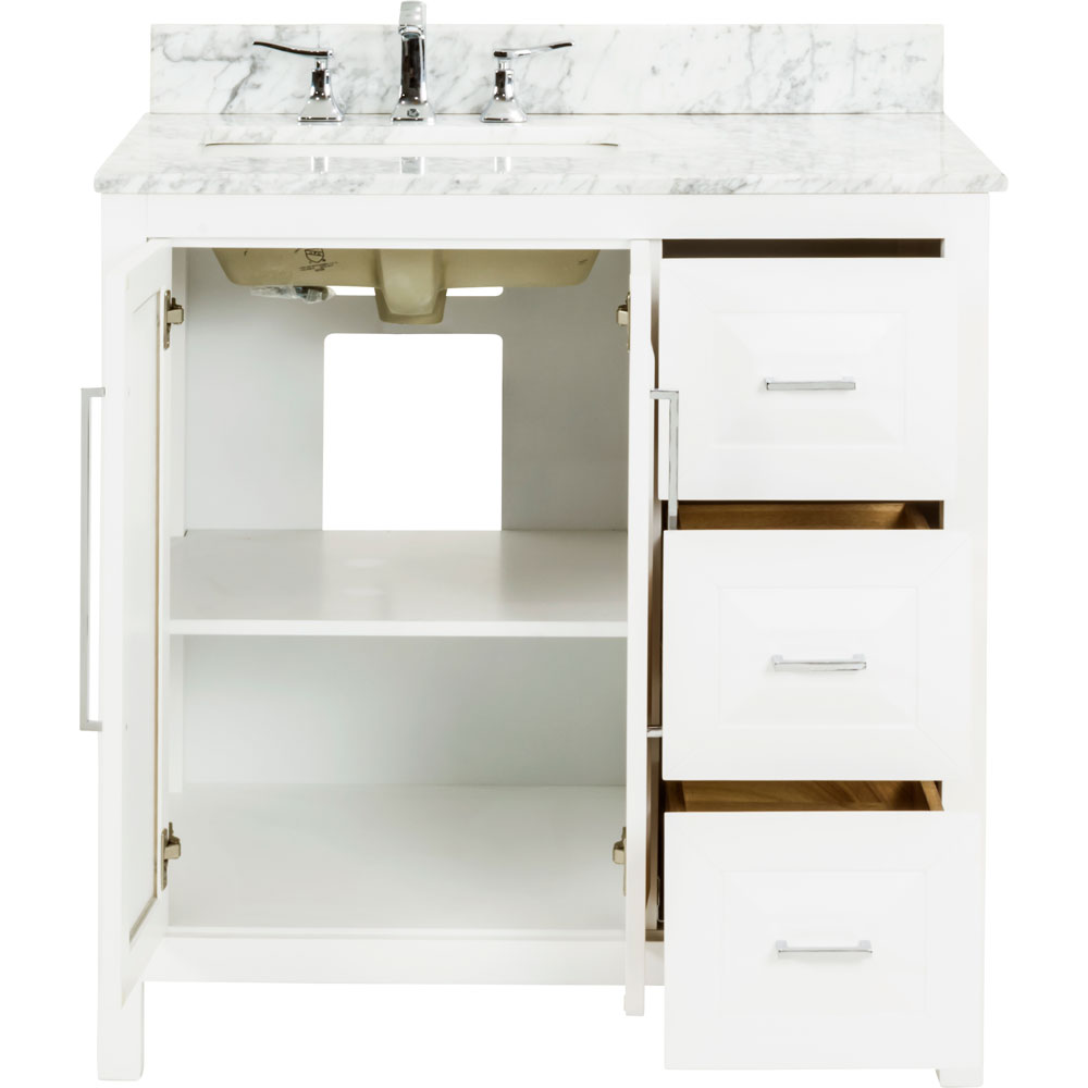 "36"" Cade Contempo vanity in White"