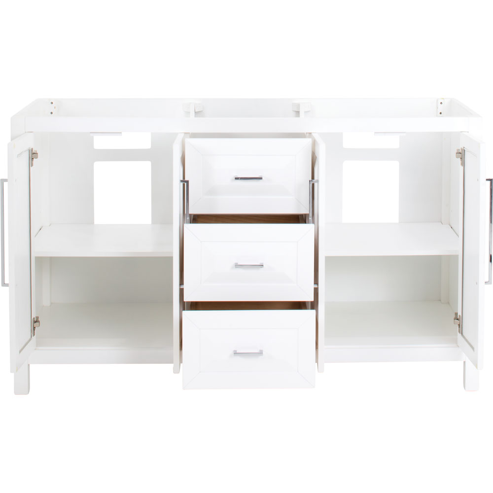 "60"" Cade Contempo vanity in White without top"