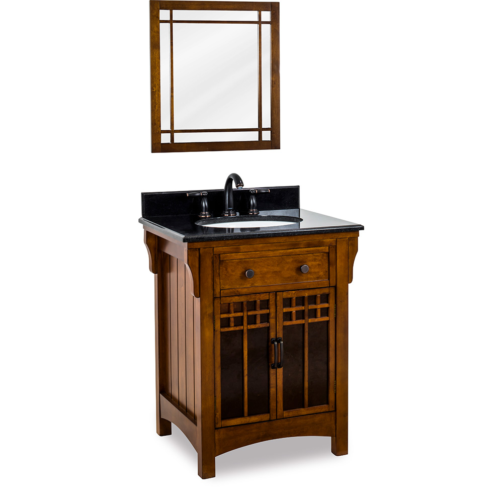 "27"" Wescott Wright vanity in Chestnut finish"