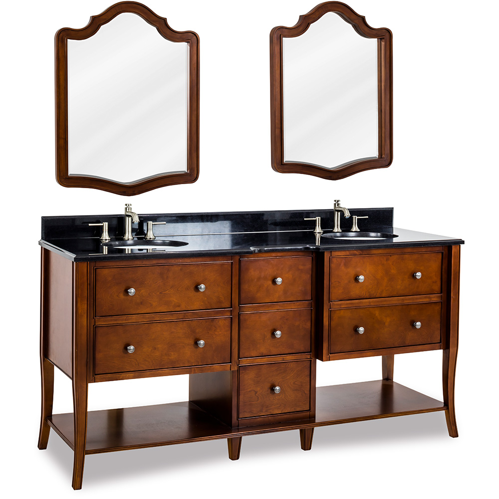 "72"" Philadelphia Refined Double Sink vanity in Chocolate finish"
