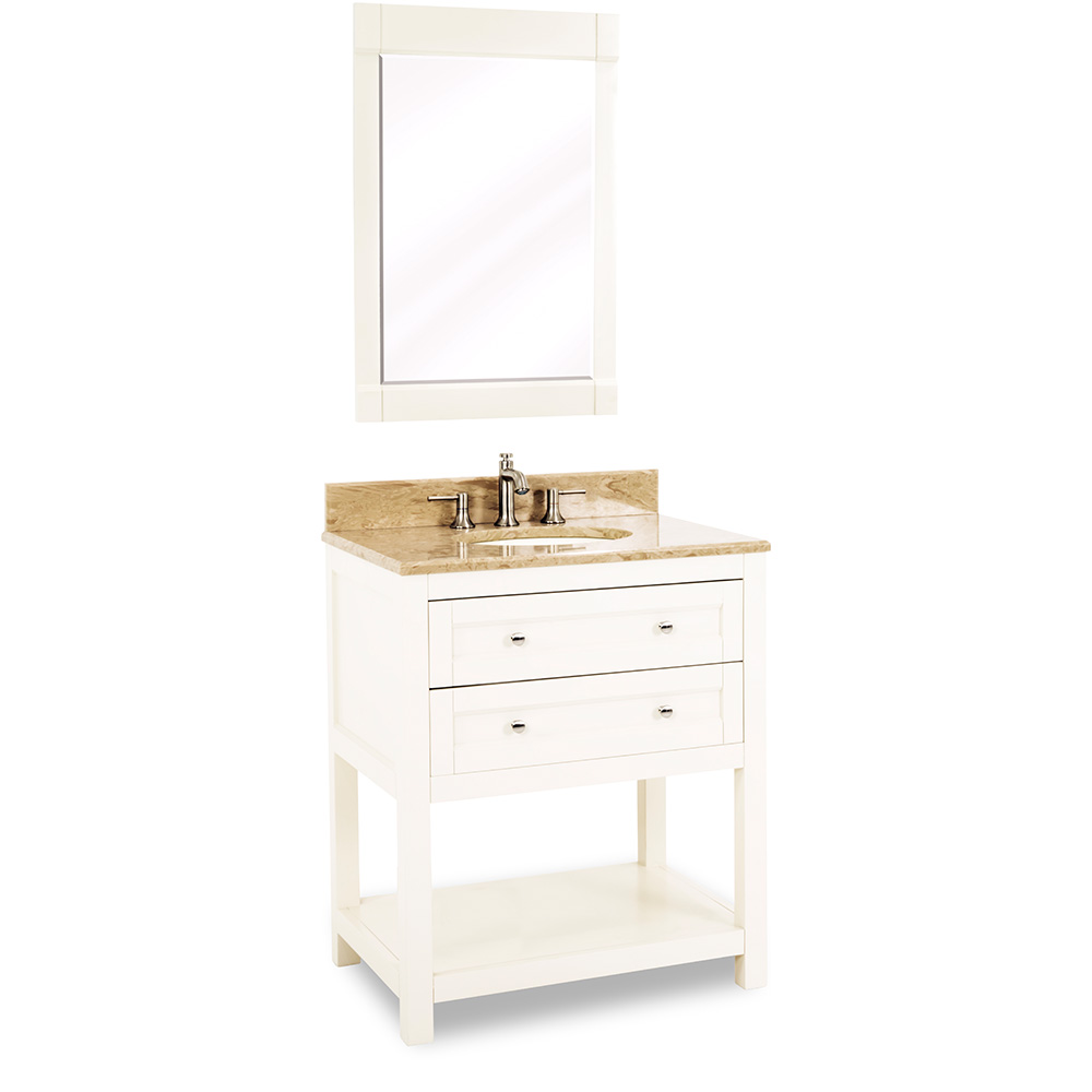 "30"" Astoria Modern vanity in Cream White"