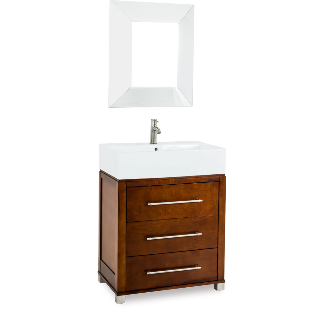 "28"" Briggs Vessel Vanity in Chocolate"