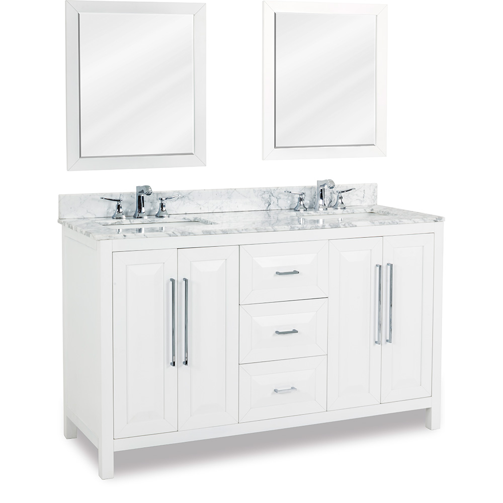 "60"" Cade Contempo double vanity in White"
