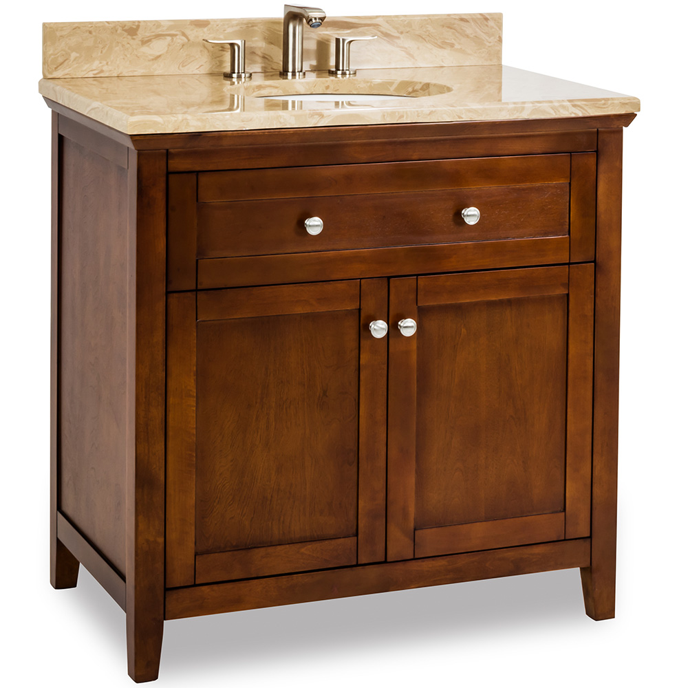 "36"" Chatham Shaker vanity in Chocolate"