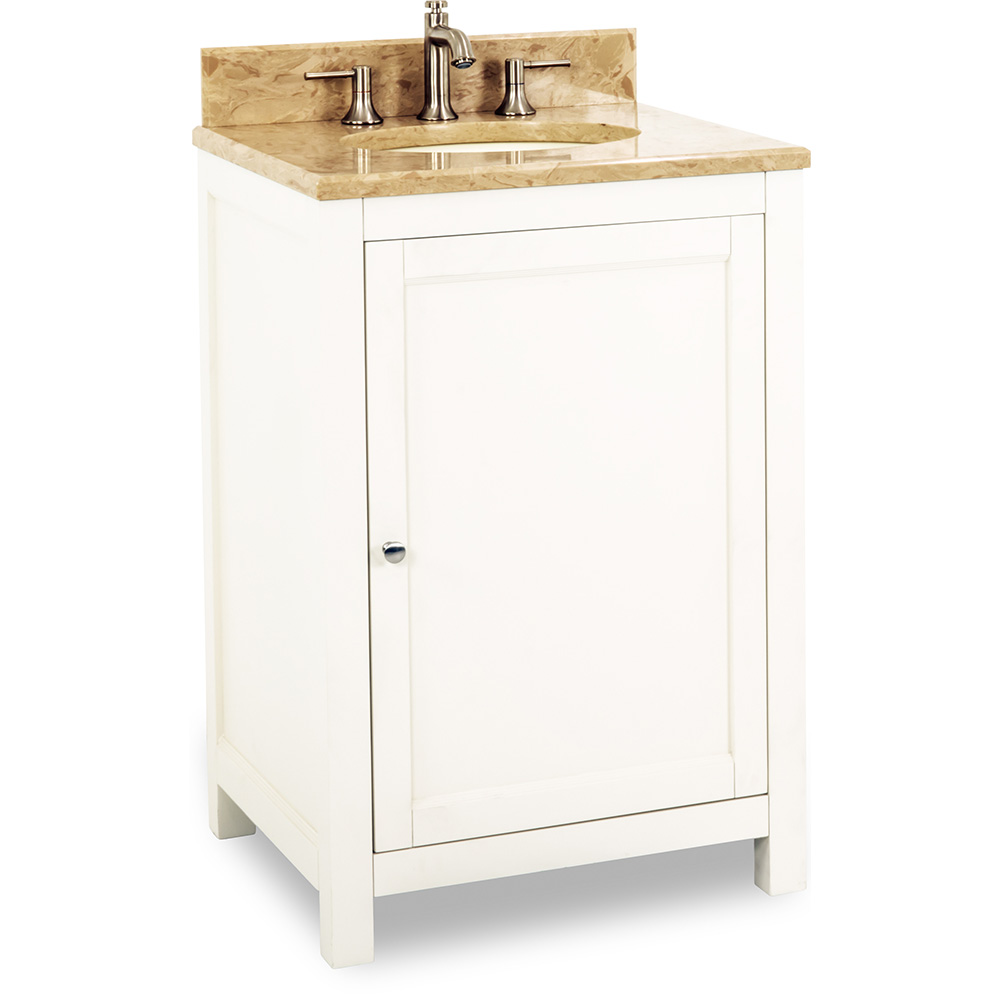 "24"" Astoria Modern vanity in Cream White"