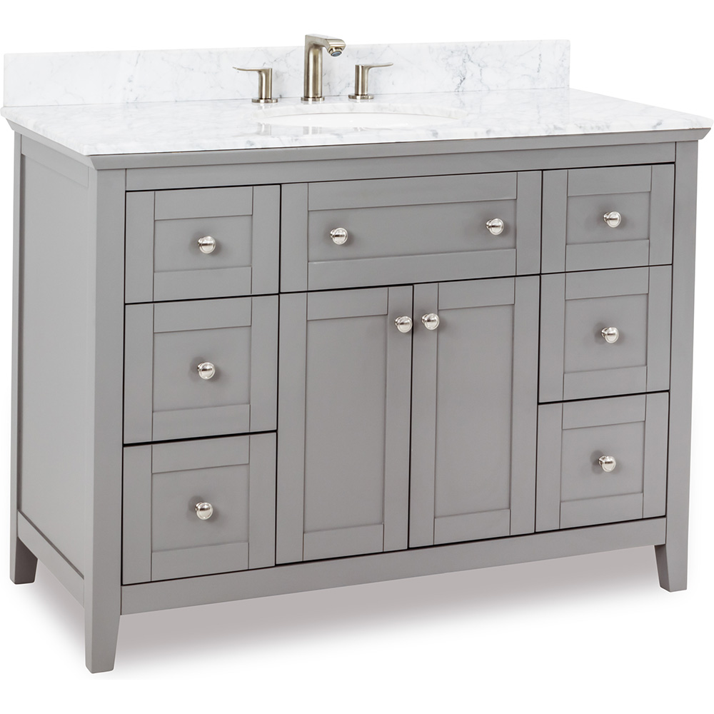 "48"" Chatham Shaker vanity in Grey"