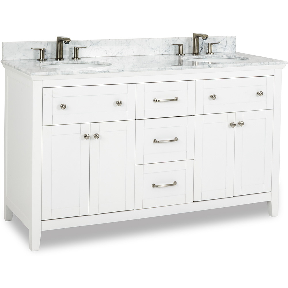 "60"" Chatham Shaker vanity in White"