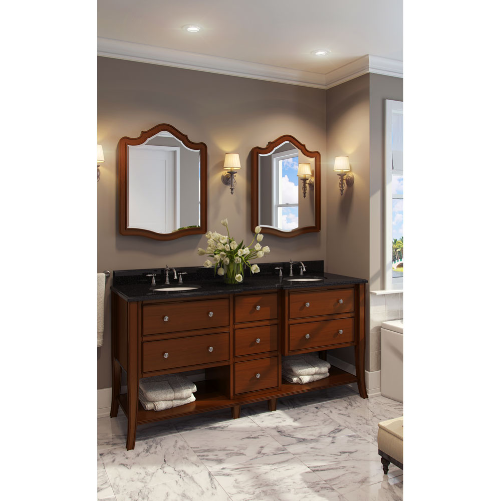 "72"" Philadelphia  Refined Double Vanity in Chocolate finish"