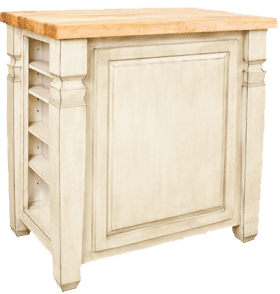 Lyn Design kitchen island ISL12-FWH reverse view