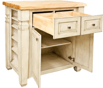 Lyn Design kitchen island ISL12-FWH front view