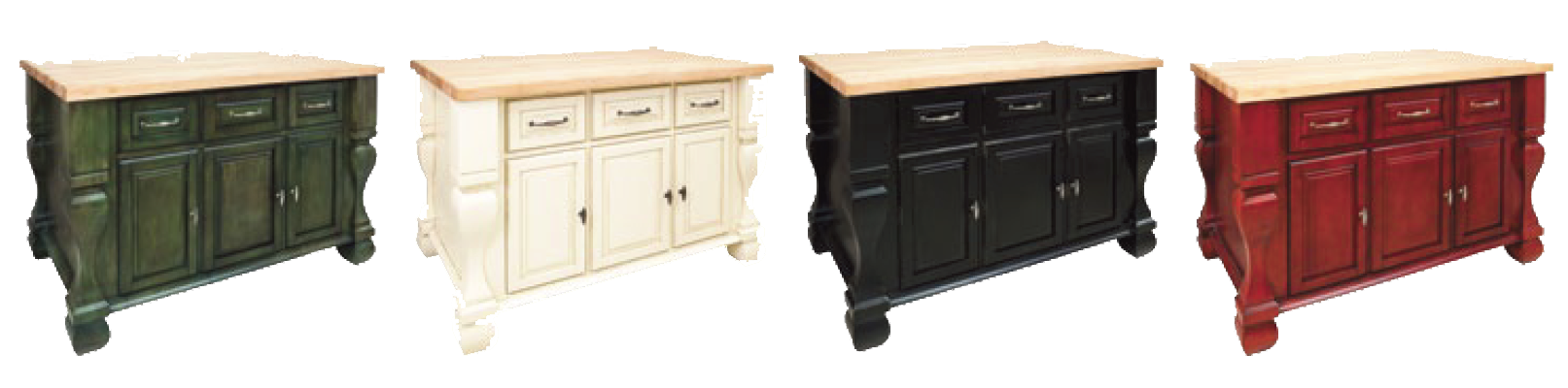 Tuscan Kitchen Island Aqua