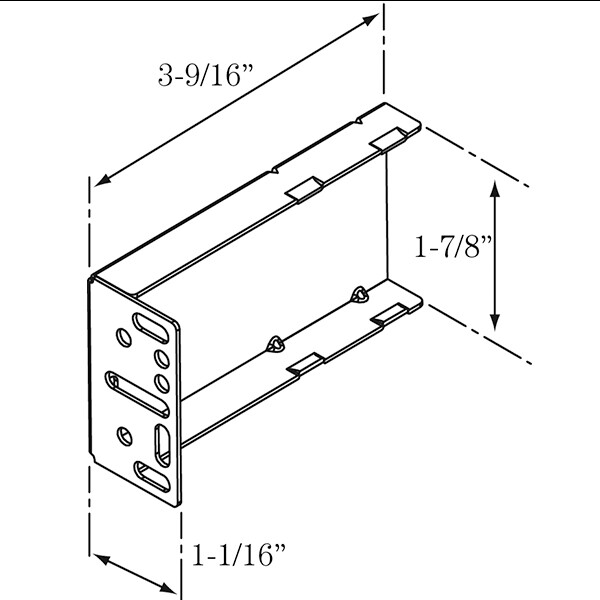 Rear mounting bracket for KV-4260 Push to Open Slide