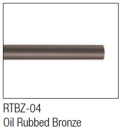 Aluminum Oil Rubbed Bronze round bar for hanging / sliding barn door