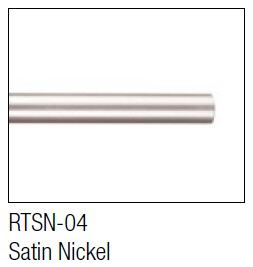 Aluminum Satin Nickel round bar for hanging / sliding barn door
