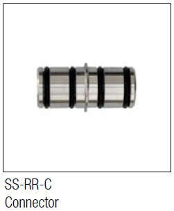 KV Stainless Steel Round Rail Connector