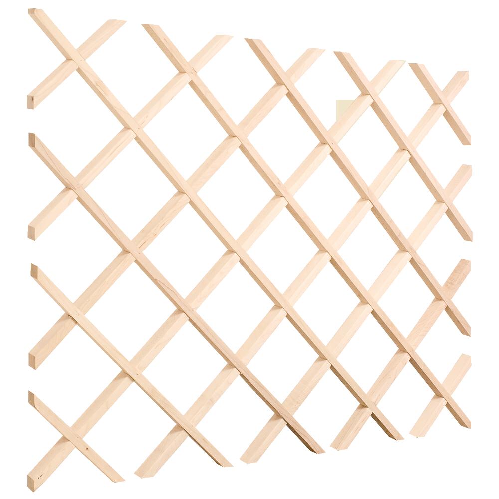 Wood Wine Rack Lattice Wood Wine Rack Lattice [npwrl.lattice] - $78.07 ...