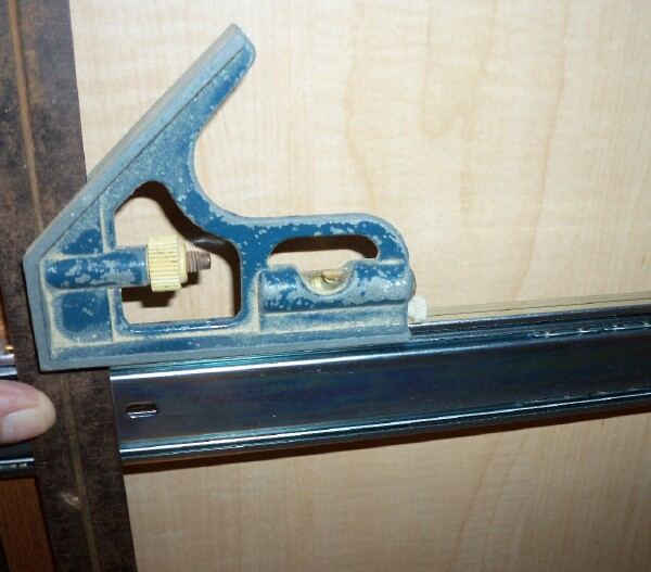 "Half depth shelf installation using 2 ""L"" bracket"