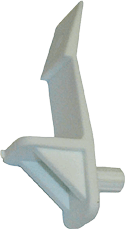 Locking shelf clip for 5/8 or 3/4 shelving