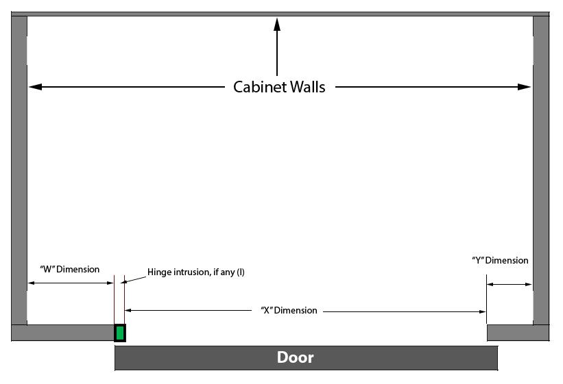 Single door cabinet with mixed QuikTRAY sizes