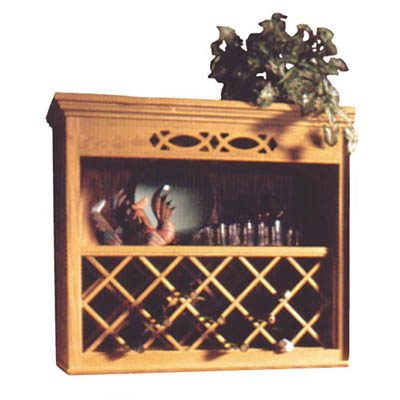 Wood Wine Rack Lattice