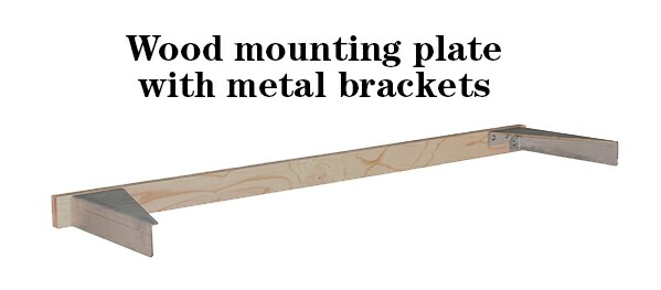 Floating custom wood shelf mounting system