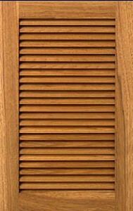 Custom Stained Louver Cabinet Doors