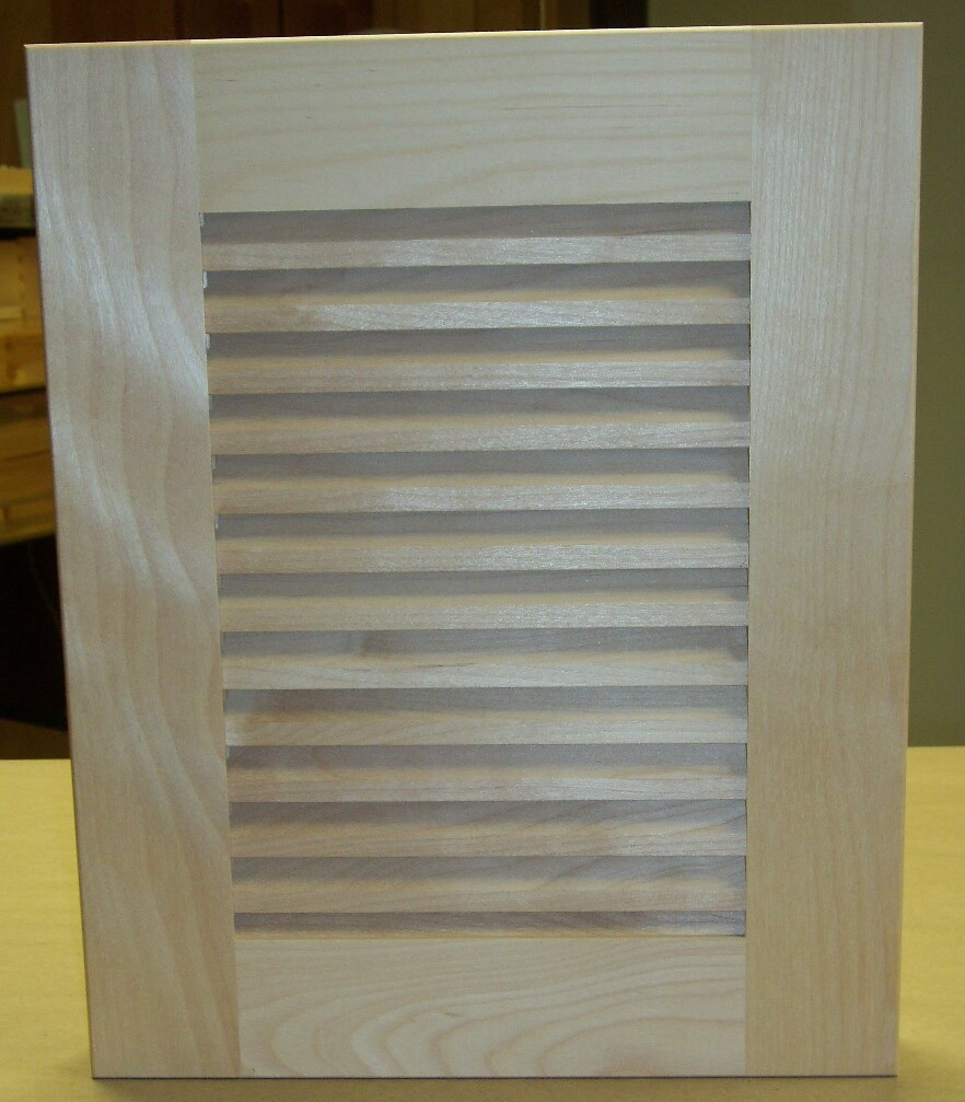 Custom Unfinished Louver Cabinet Doors Unfinished Louver Cabinet