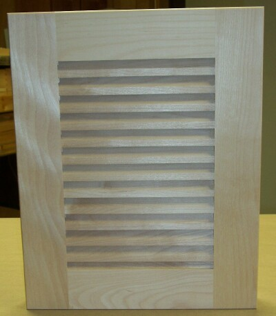 Custom Wood Individual Louver Cabinet Door