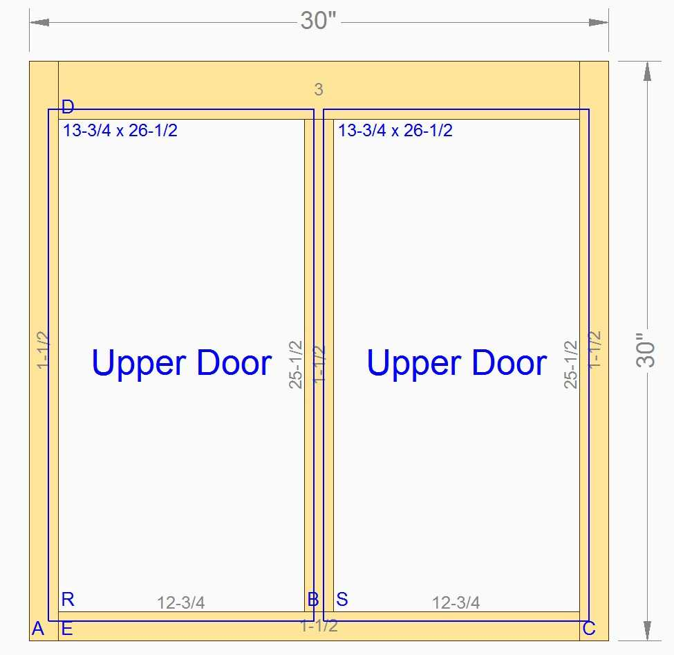 Custom Wood Cabinet Front Face Frames