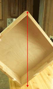 Stand drawer up with longest side vertical