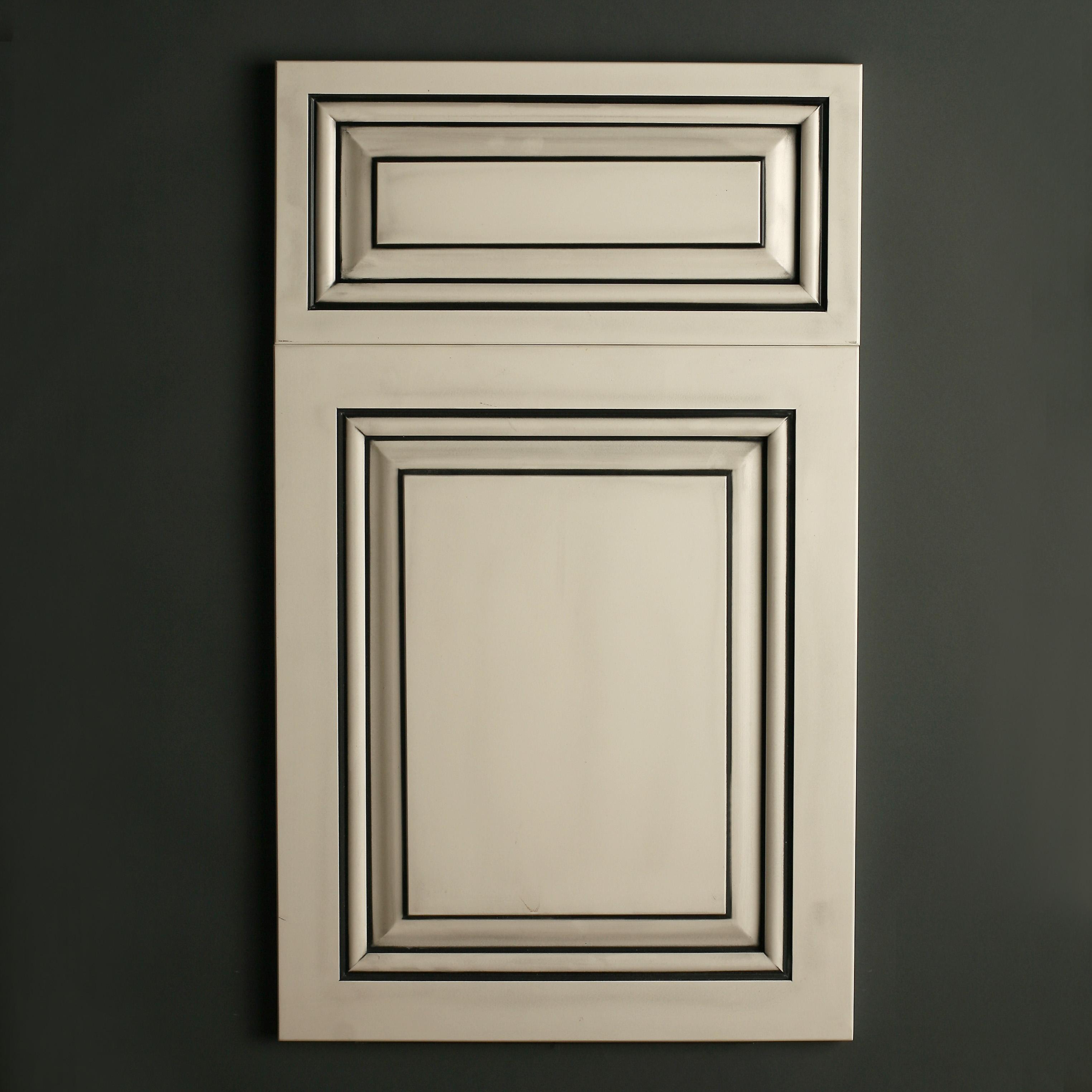 Satin White with Black Glaze