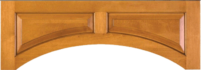 Raised Panel custom valance in your choice of designs and materials