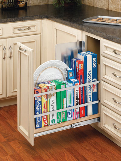 "8"" pullout tray rack"