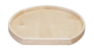 D-Shaped Wooden Lazy Susan