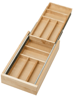 "Two tiered cutlery drawer for 15"" cabinet opening"