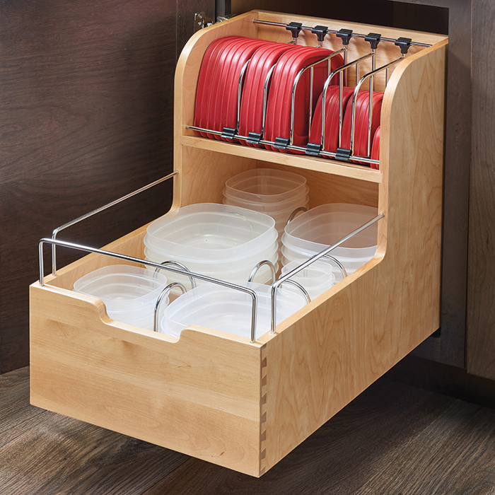Base Cabinet Pullout Food Storage Container Organizer - 18""