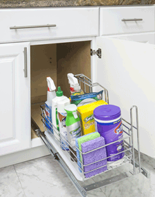 Pullout Cleaning Supply Caddy