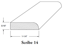 Scribe moulding 14