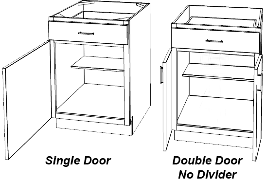 Single and double door with no mullion