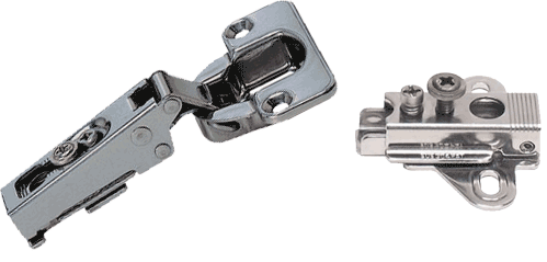 Stainless Steel Hinge and mounting plate