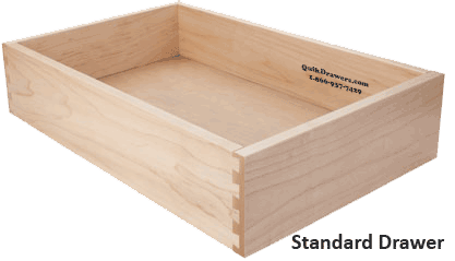 Standard drawer box configuration