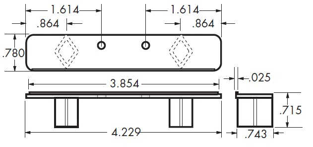 Specifications for the Standard False Front Clip with Free Shipping