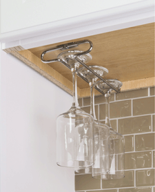 11 Minute Project - Under counter stemware rack in polished chrome