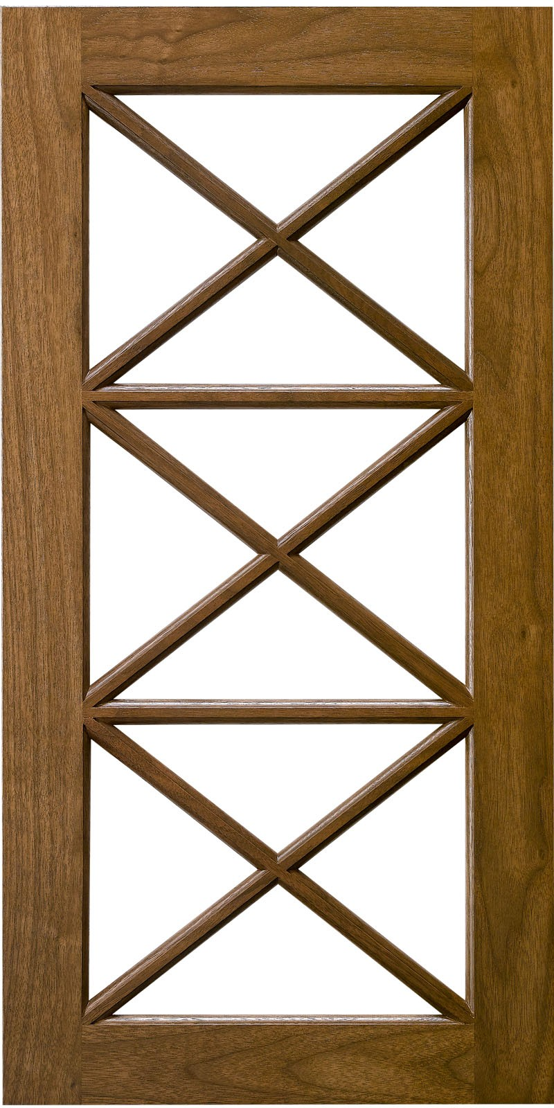 Triple X  Horizontal Mullion Cabinet Door