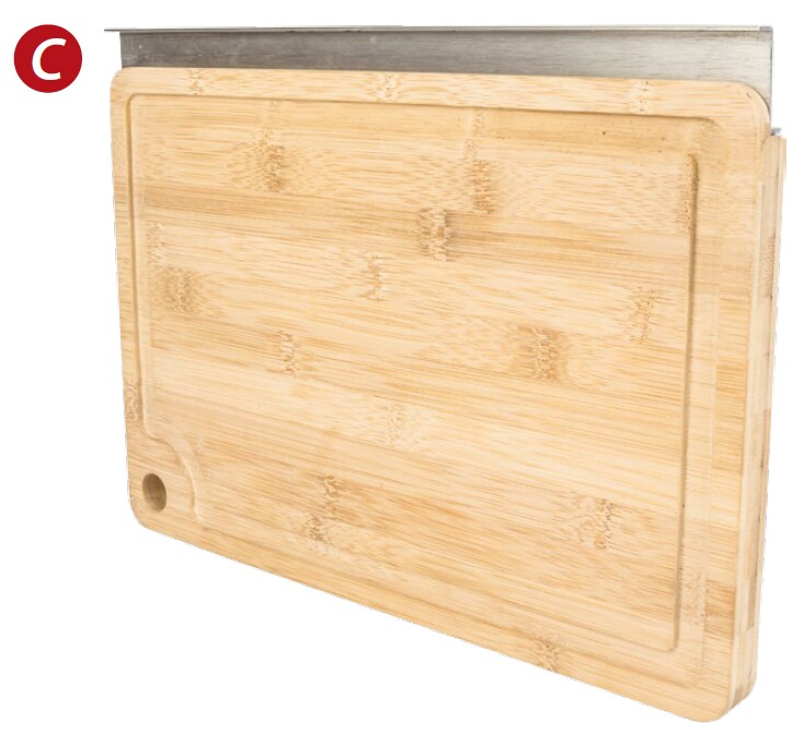 Hanging cutting board for Smart Rail System