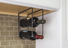 11 Minute Project - Under counter wine bottle rack in brushed oil rubbed bronze