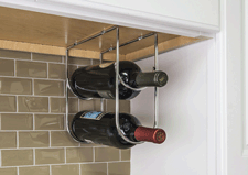 11 Minute Project - Under counter wine bottle rack in polished chrome